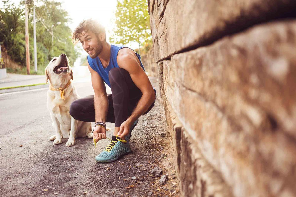 Running with your dog is a great way to get pet exercise in!