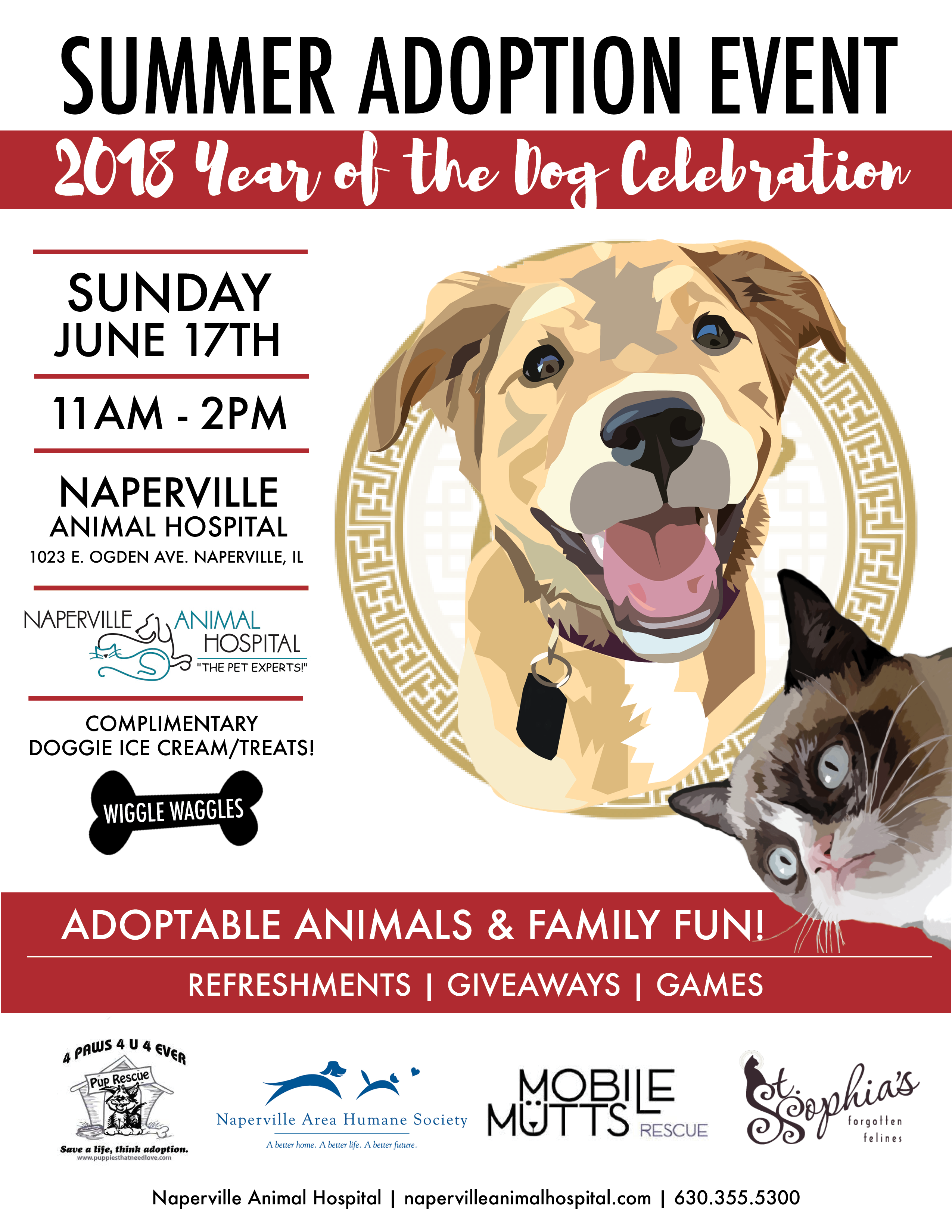Animal care archives naperville animal hospital naperville il join us for our annual summer adoption event this year well be celebrating the year of the dog and all rescue pets stop by on sunday june 17th from 11am solutioingenieria Choice Image